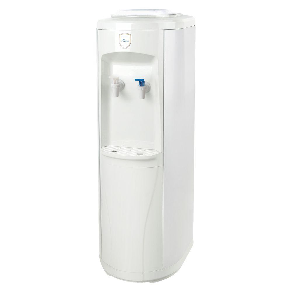 Vitapur 3 5 Gal Room Cold Temperature Top Load Floor Standing Water Cooler Dispenser With Adjustable Cold Thermostat Settings Vwd2236w The Home Depot