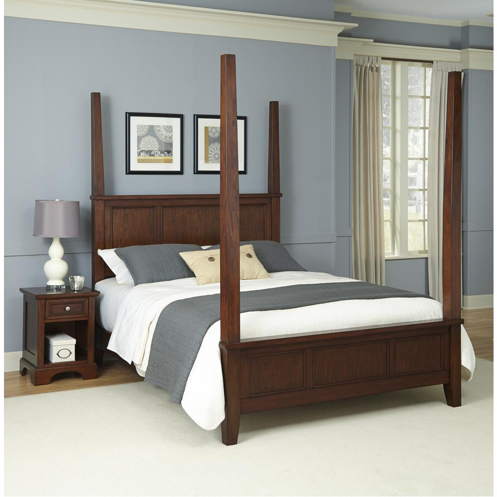 Home Styles Chesapeake 2-Piece Cherry (Red) King Bedroom Set