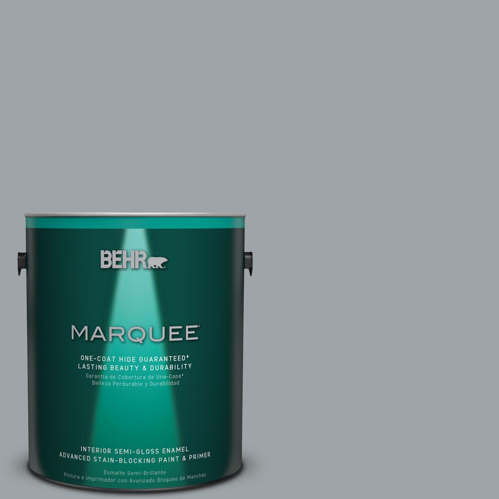 BEHR MARQUEE 1 gal. #MQ5-30 Silent Film Semi-Gloss Enamel One-Coat Hide Interior Paint and Primer in One
