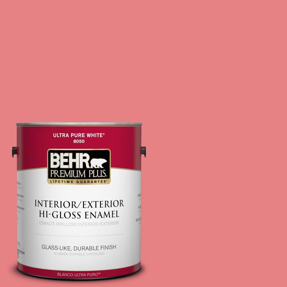 BEHR Premium Plus 1-gal. #P170-4 Sugar Poppy Hi-Gloss Enamel Interior/Exterior Paint