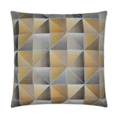 Immortal Yellow Feather Down 24 in. x 24 in. Decorative Throw Pillow