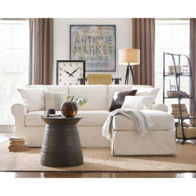 Mayfair 2 Piece Linen Pearl Sectional Part 45