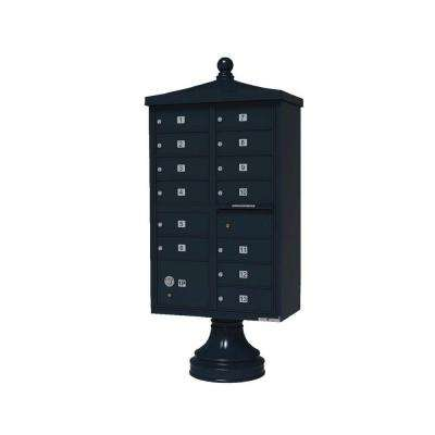 Vital 1570 13 Mailboxes 1 Parcel Locker 1 Outgoing Pedestal Mount Cluster Box Unit