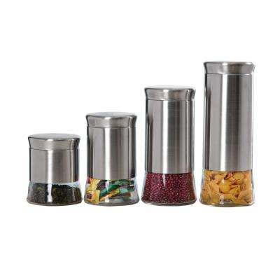 Essence Stainless Steel Canister Set (4-Piece)