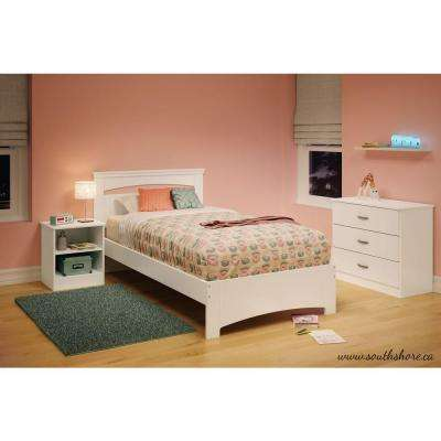 Libra Pure White Twin Bed Frame