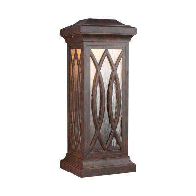 Rolland Walnut Outdoor Integrated LED Wall Mount Lantern