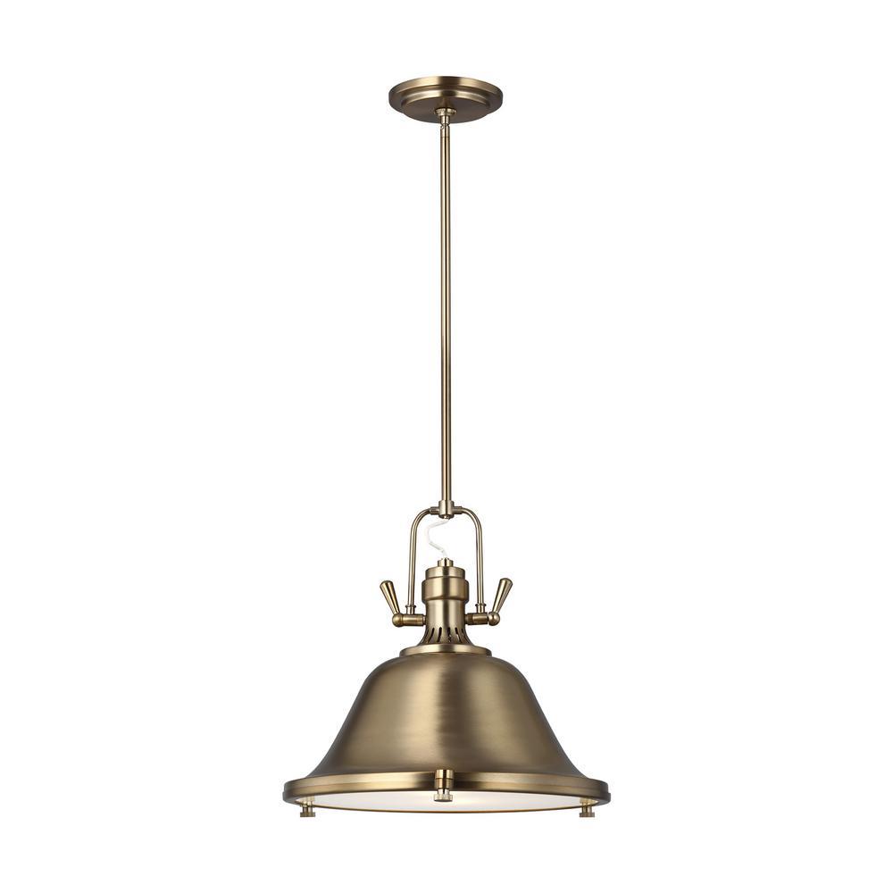 Stone Street 2-Light Satin Bronze Pendant with LED Bulbs