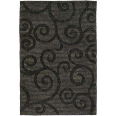 Pernille Charcoal/Taupe 8 ft. x 11 ft. Indoor Area Rug