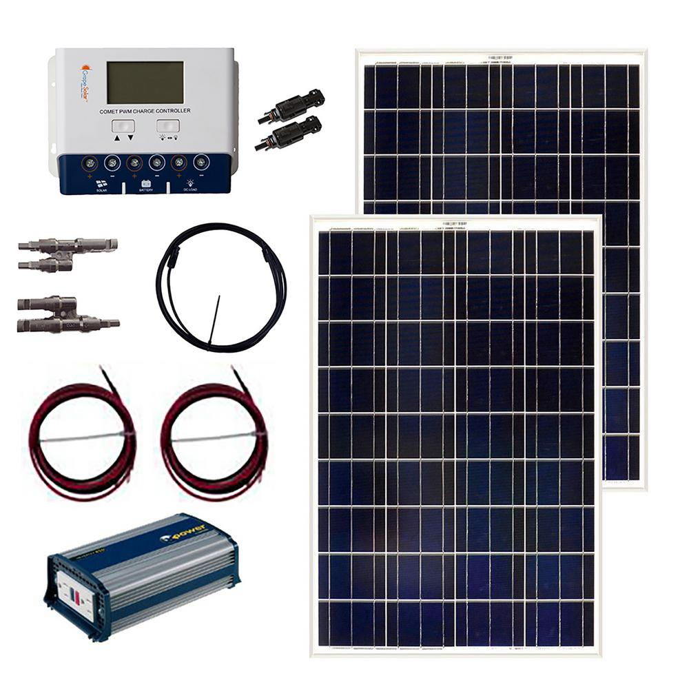 Grape Solar 200 Watt Off Grid Panel Kit Gs The Home Wiring Guide