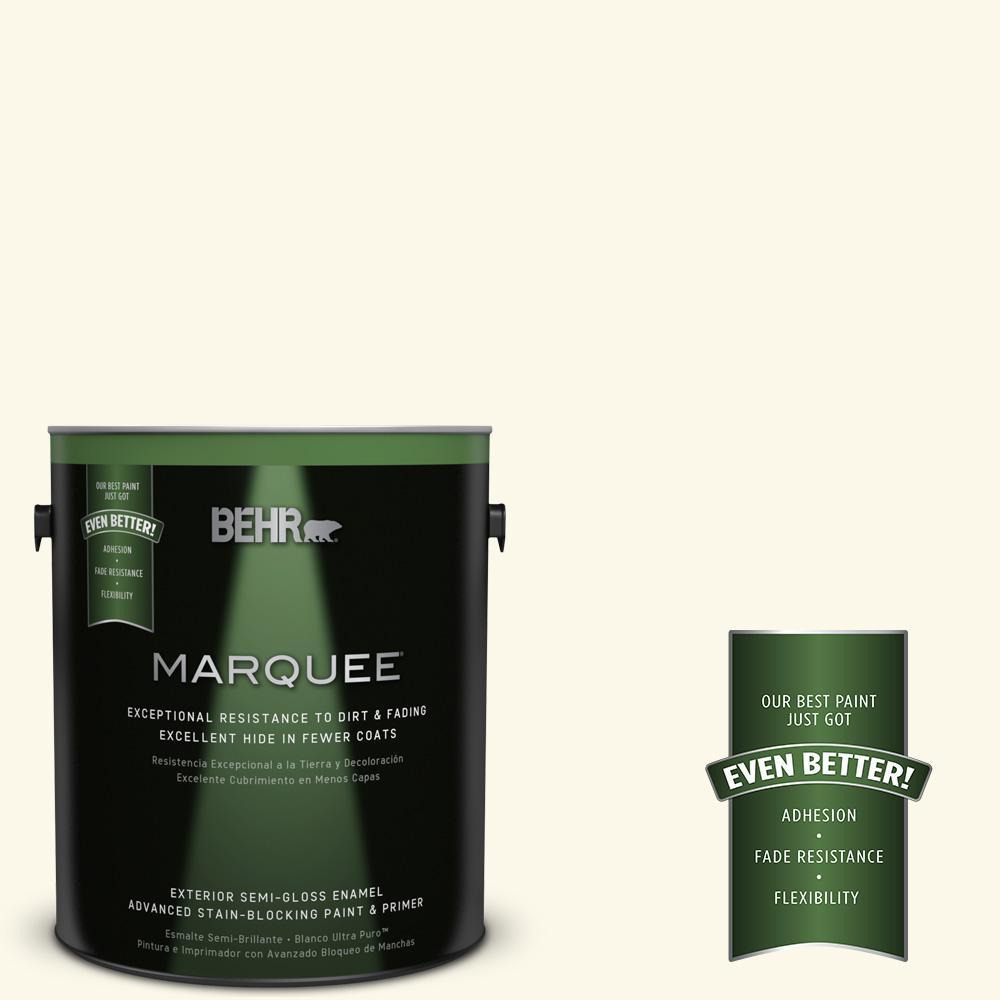 BEHR MARQUEE 1-gal. #BXC-86 Elderflower Semi-Gloss Enamel Exterior Paint