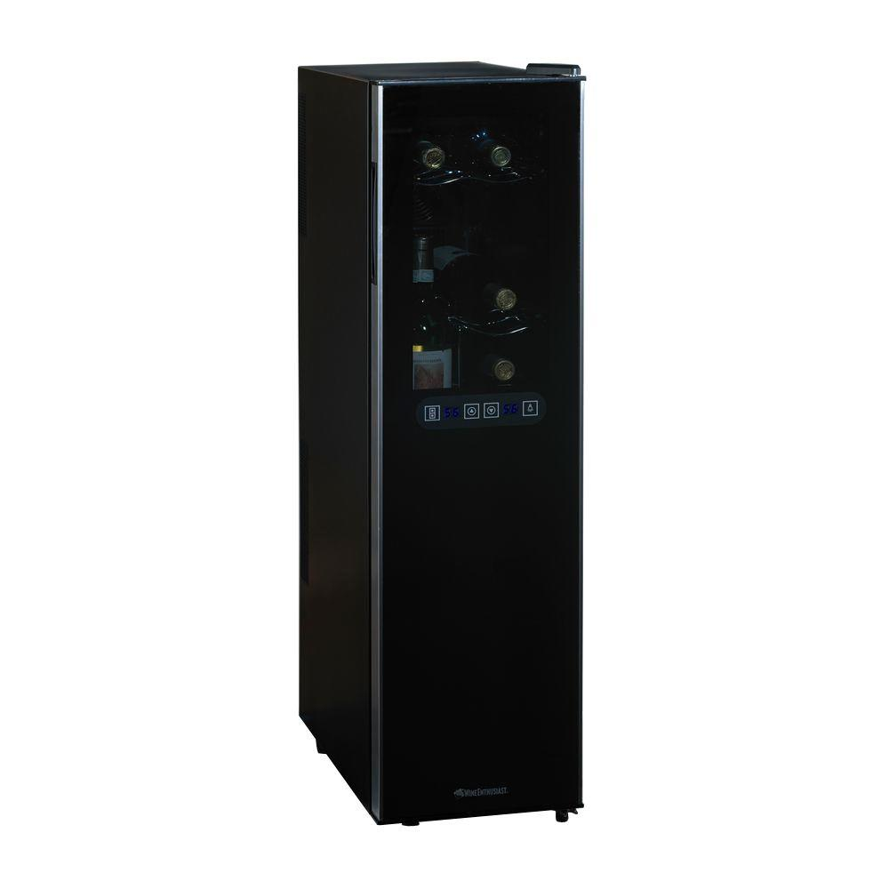 wine enthusiast wine cooler wine enthusiast silent dual zone 10 in 18 bottle wine 31189