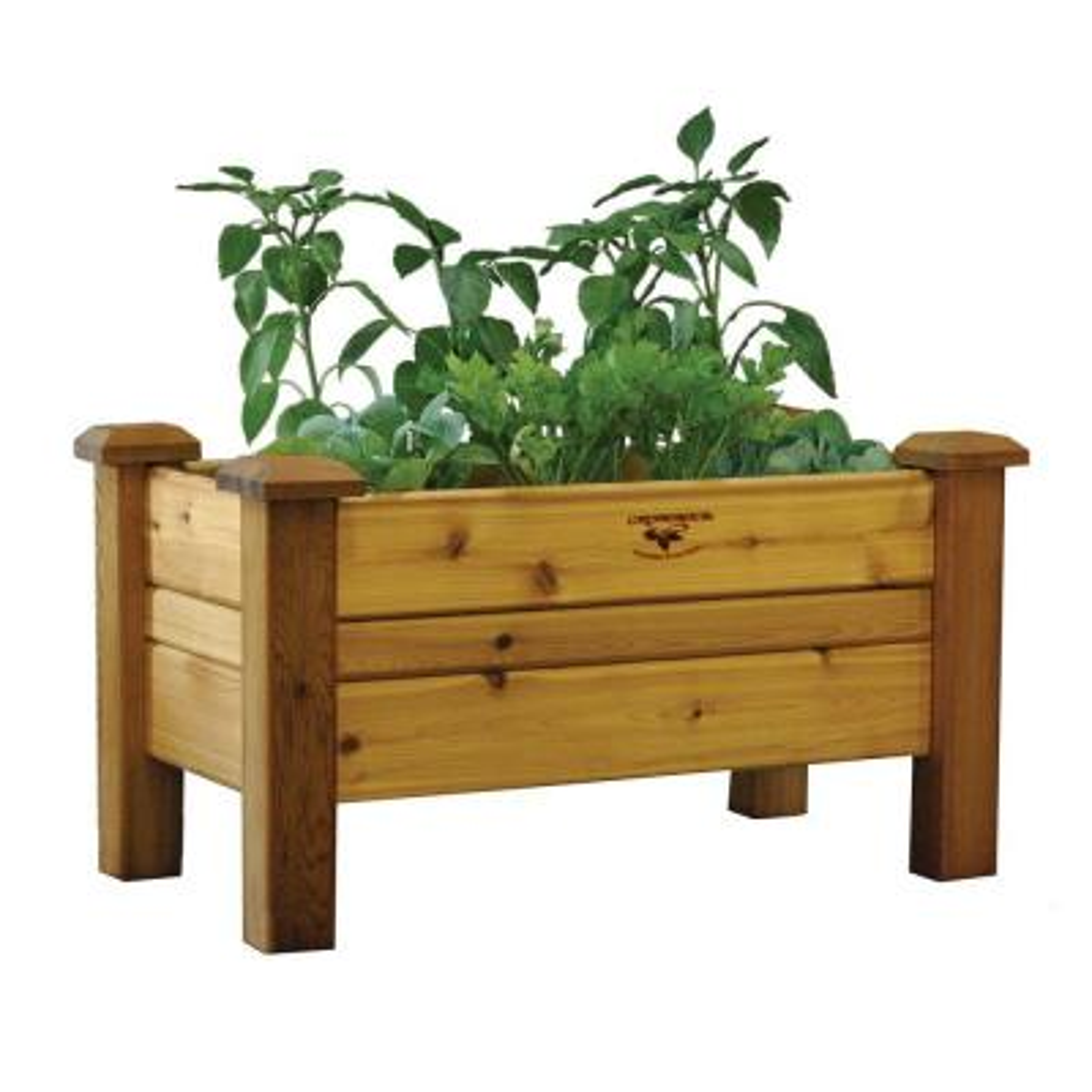 34 in. x 18 in. Safe Finish Cedar Planter Box