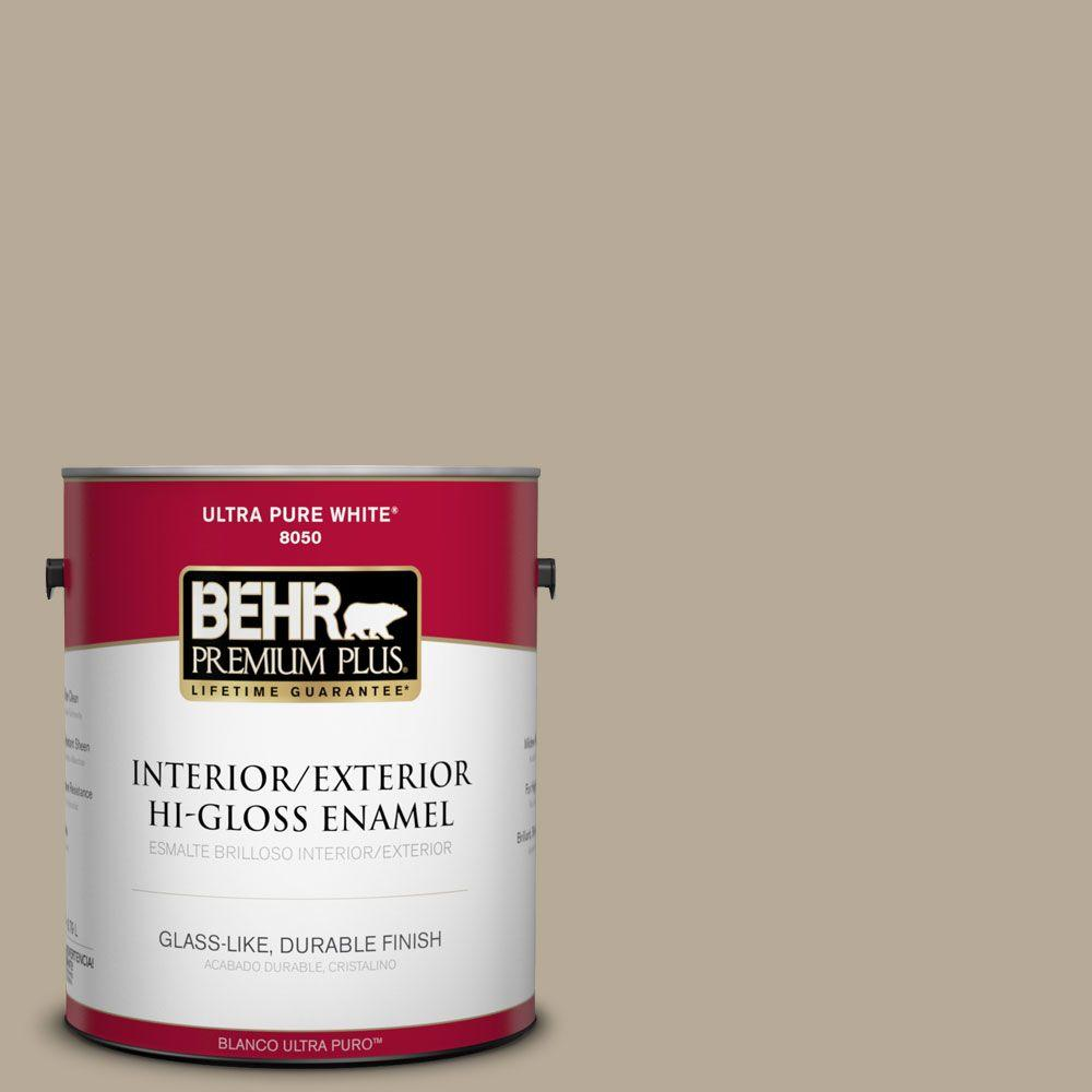 1-gal. #N310-4 Desert Khaki Hi-Gloss Enamel Interior/Exterior Paint