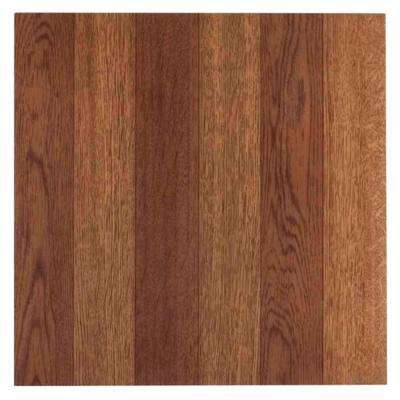 Tivoli Medium Oak 12 in. x 12 in. Peel and Stick Plank Pattern Vinyl Tile (45 sq. ft./case)