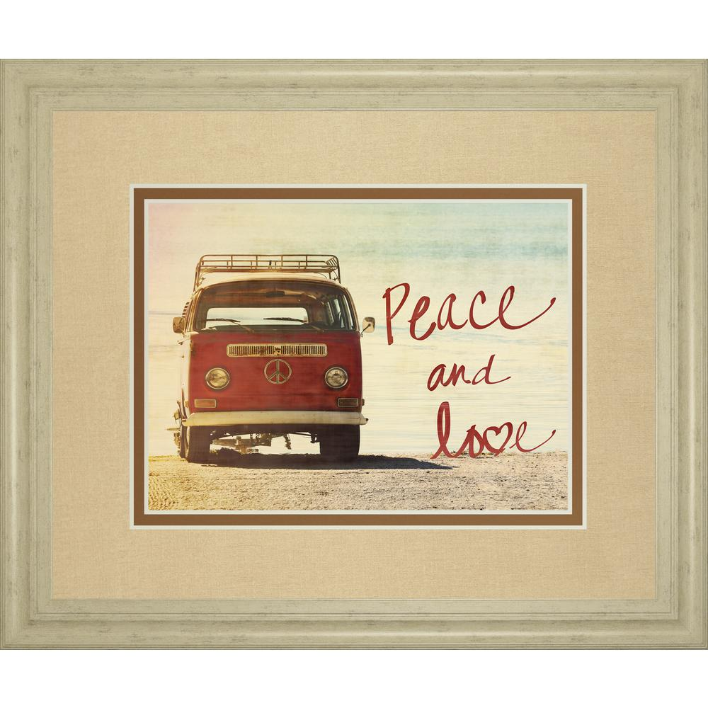 34 in. x 40 in. ''Peace and Love'' by Gail Peck