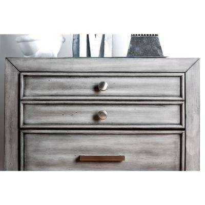 Daphne Gray Transitional Style Nightstand
