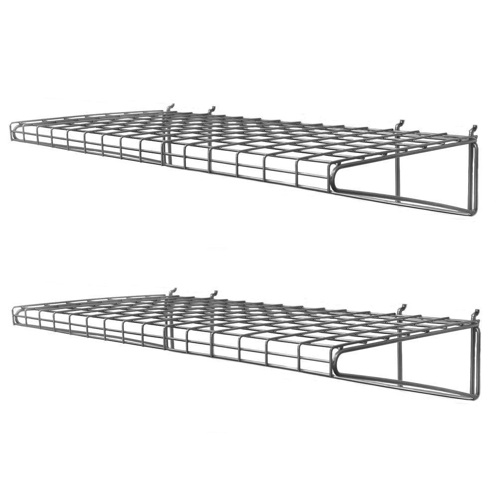 24 in. H x 14 in. W x 7 in. D Ventilated Wire Shelf (2-Pack)