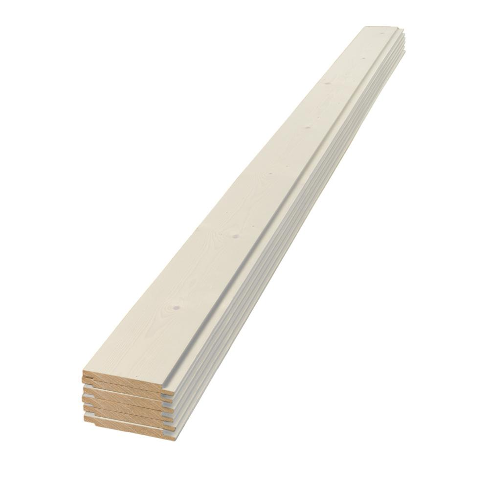 UFP-Edge 1 in. x 6 in. x 4 ft. Square Edge White Shiplap Pine Board (6-Pack)