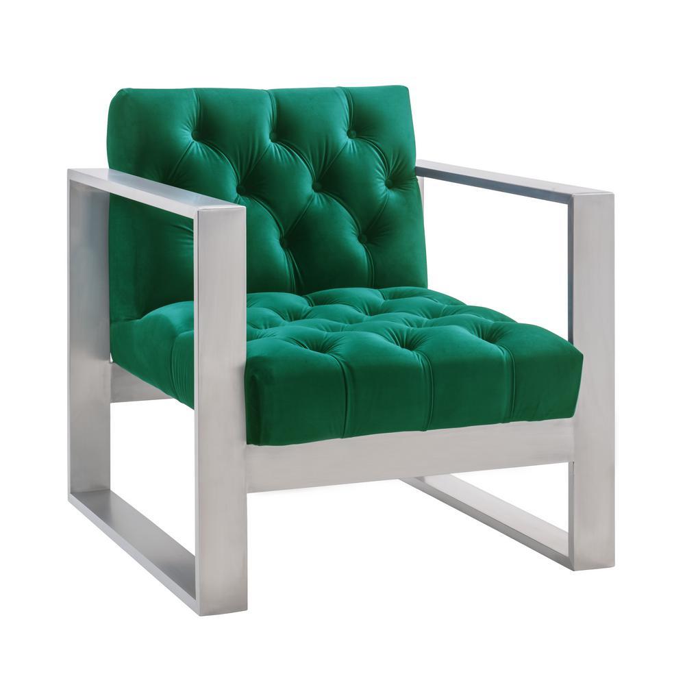 Oliver Green Velvet Chair