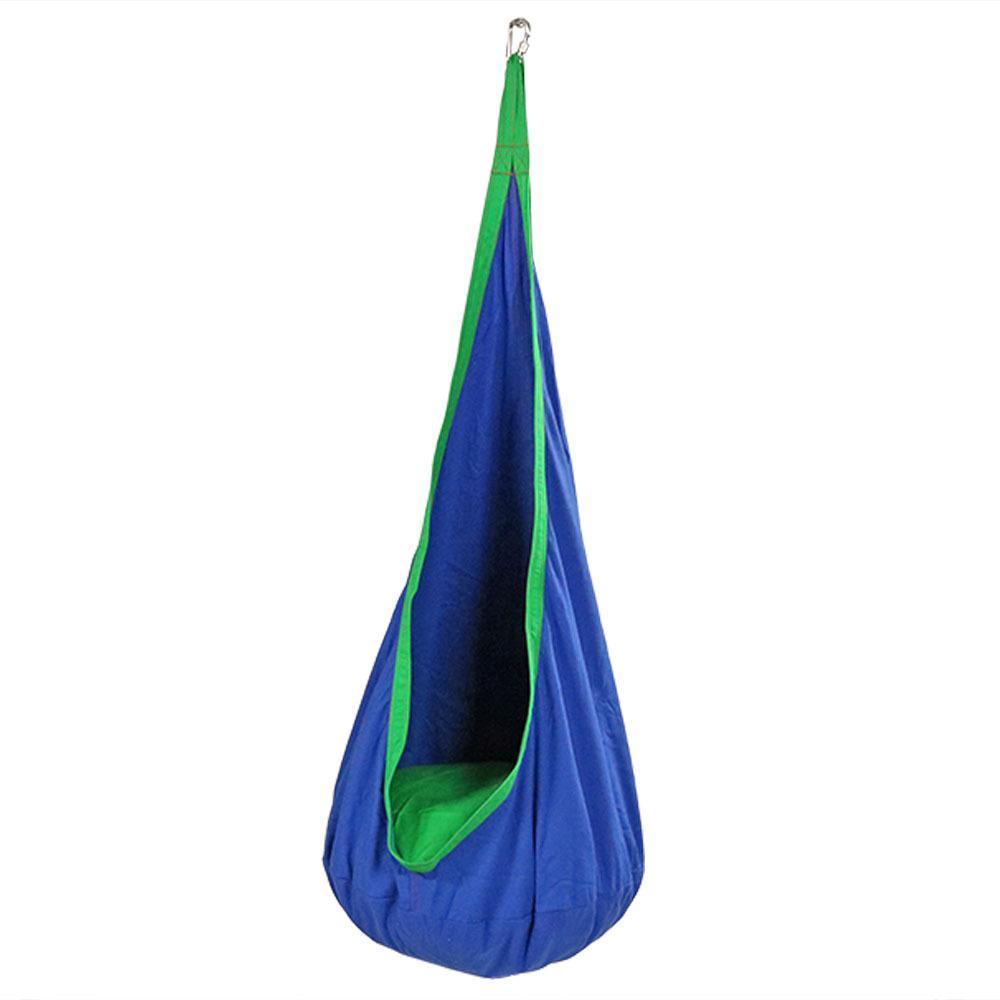 5 ft. Fabric Kid's Hammock Nest for Children in Blue