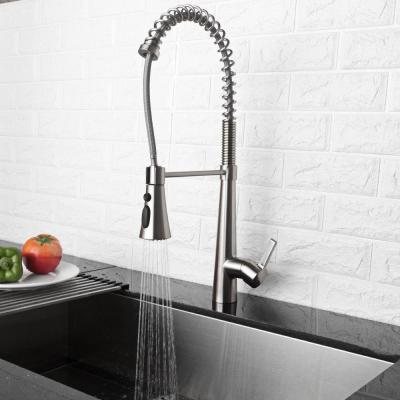 Single-Handle Pull-Down Sprayer Kitchen Faucet Stainless Steel Faucet