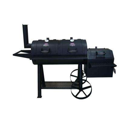 41 in. Ranchers Steer Series Charcoal Grill/Smoker in Black