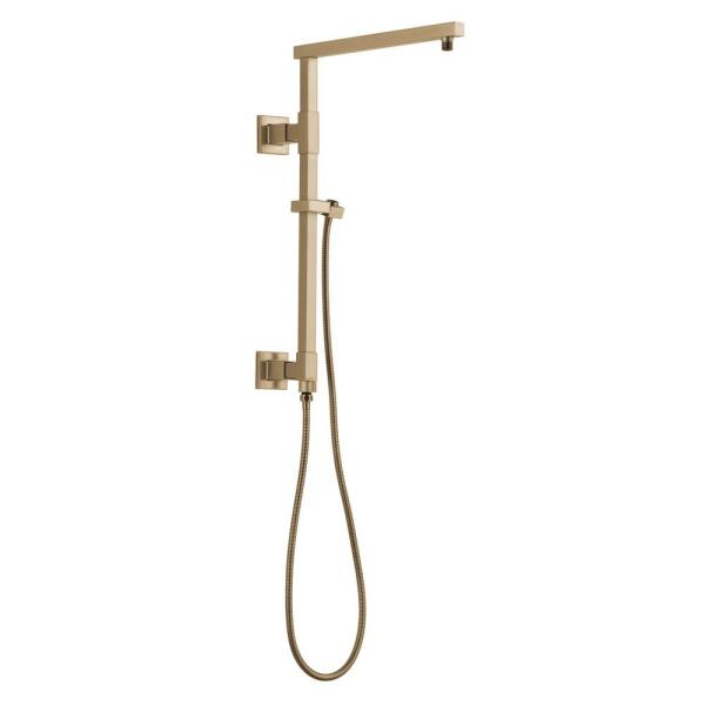 Emerge 18 in. Angular Modern Column Shower Bar in Champagne Bronze