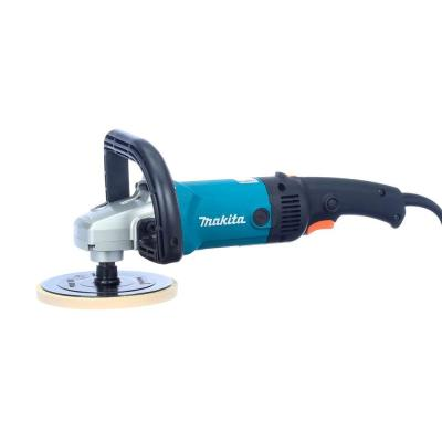 10 Amp 7 in. Corded Variable Speed Hook and Loop Sander/Polisher w/ Soft Start, Backing Pad, Side Handle and Loop Handle