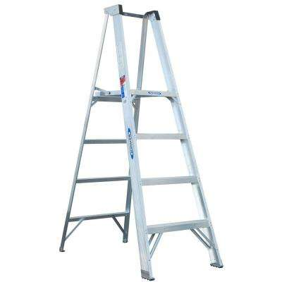 4 ft. Aluminum Platform Step Ladder with 300 lb. Load Capacity Type IA