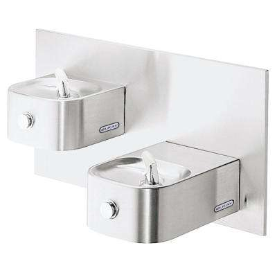 Wall Mounted Soft Sides Bi-Level Non-Filtered Non-Refrigerated Fountain