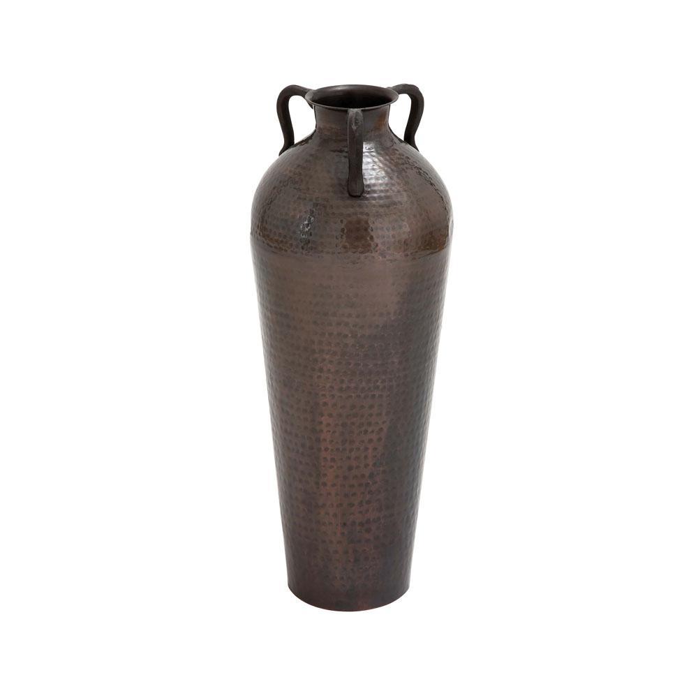 Hammered Bronze Iron Decorative Vase