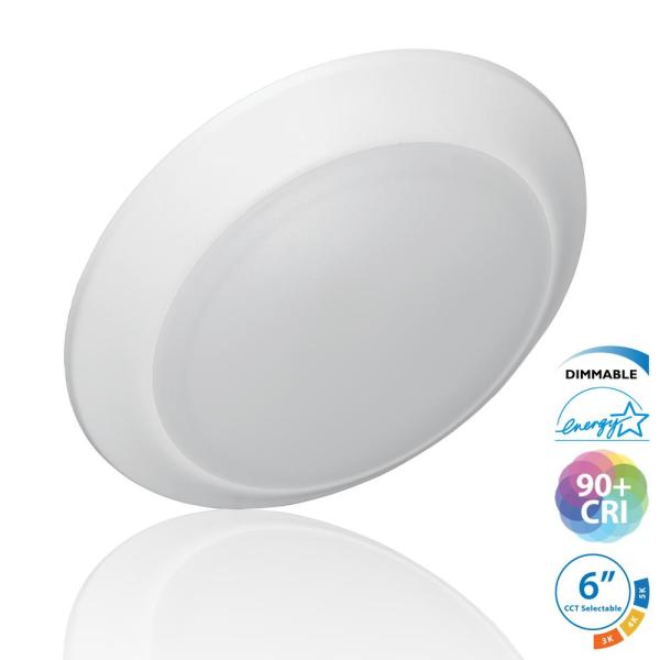 DSK56 Selectable Series 5/6 in. Surface Mount Integrated LED Recessed Downlight