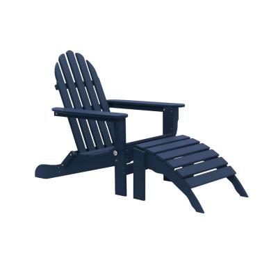 Icon Navy 2-Piece Folding Recycled Plastic Adirondack Chair