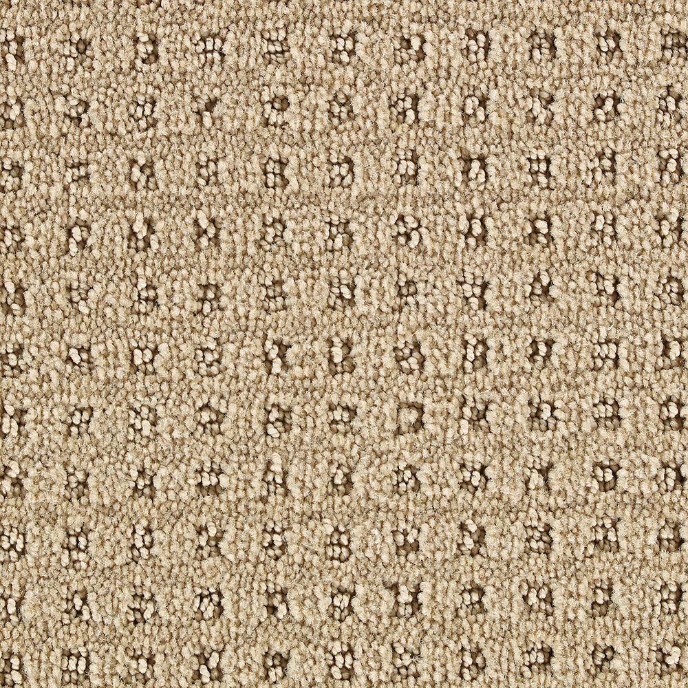 Martha Stewart Living Springwood Brown Alpaca - 6 in. x 9 in. Take Home Carpet Sample