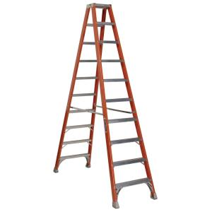 Louisville Ladder 10 ft. Fiberglass Twin Step Ladder with 300 lbs. Load Capacity... by Louisville Ladder