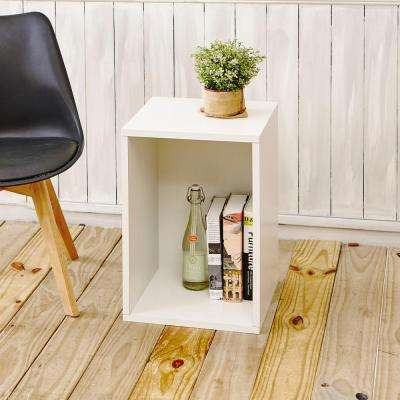 Blox System Vertical Eco zBoard Tool Free Assembly White Stackable Modular Open Bookcase