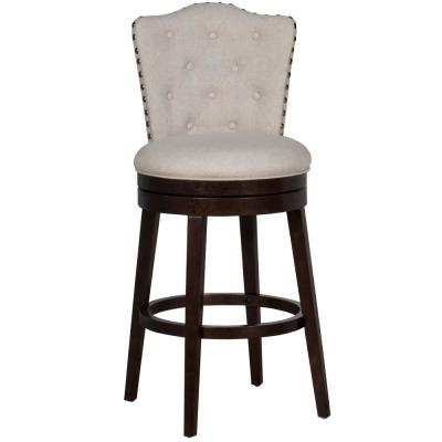 Edenwood 26.25 in. Cream Counter Stool