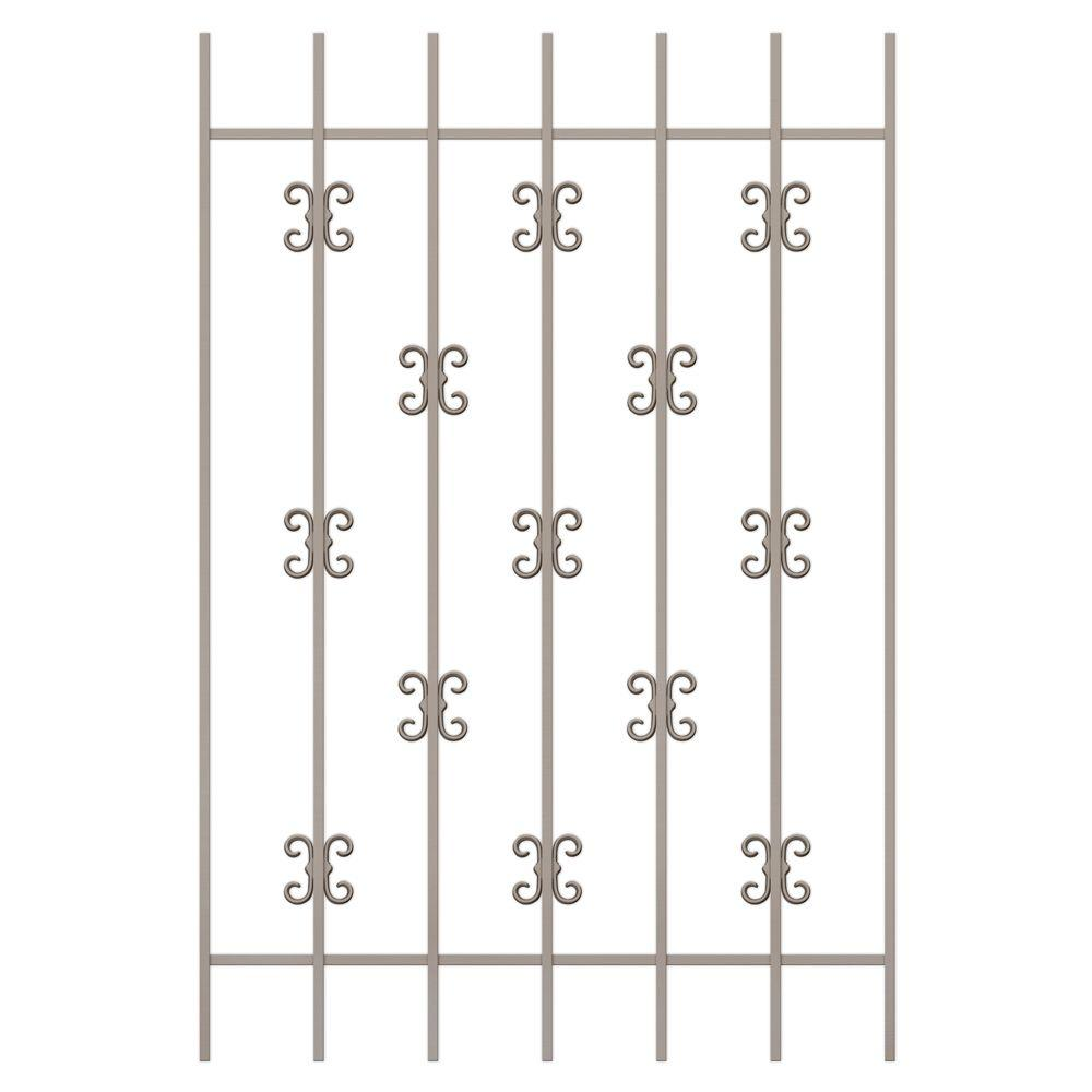 Unique Home Designs Moorish Lace 36 in. x 54 in. Tan 7-Bar Window Guard-DISCONTINUED