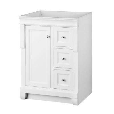 Naples 24 in. W Bath Vanity Cabinet Only in White with Left Hand Drawers