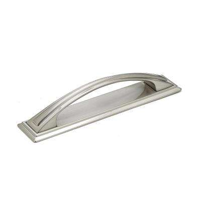 Transitional 5-1/32 in. (128 mm) Brushed Nickel Cabinet Pull