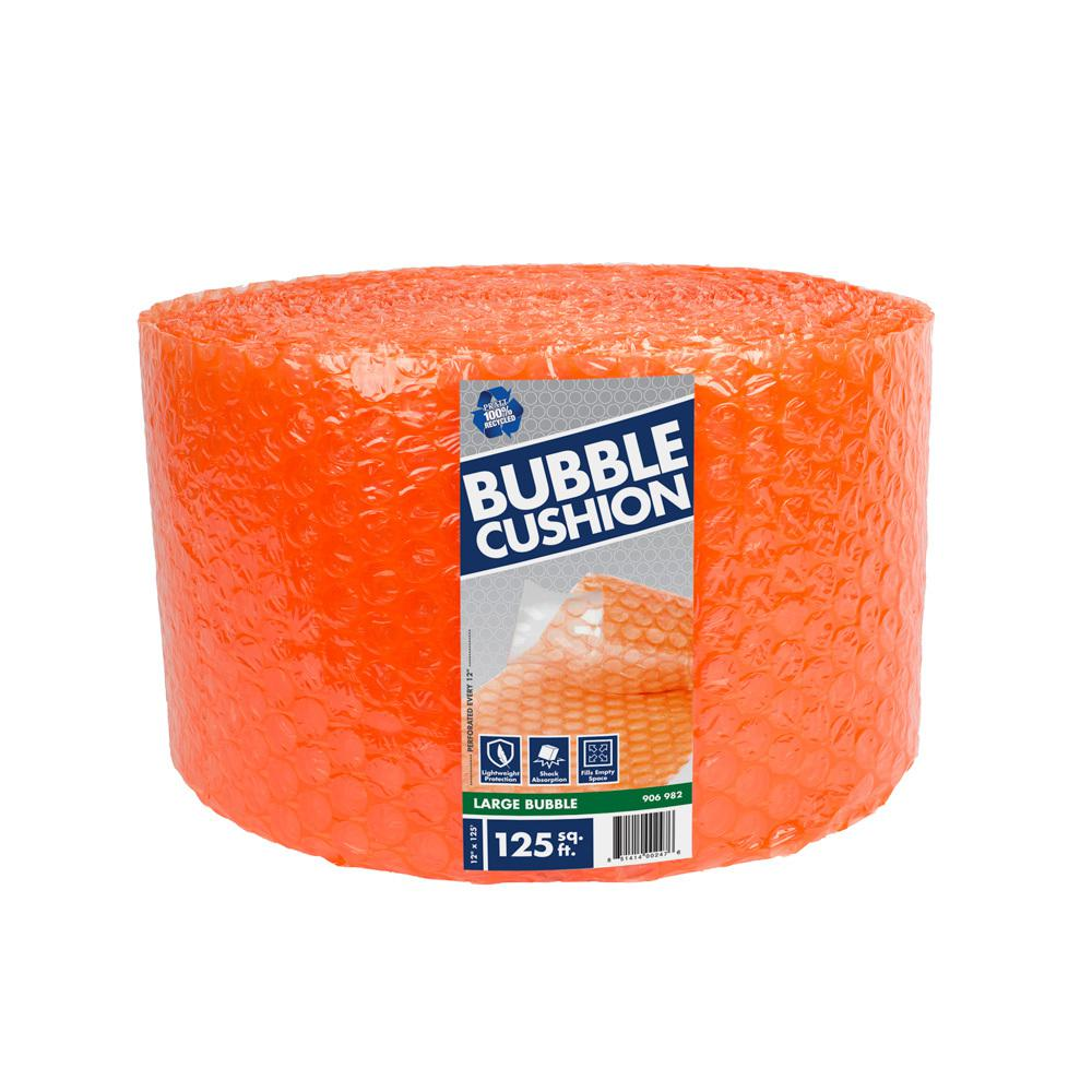 Pratt Retail Specialties 5/16 in. x 12 in. x 125 ft. Perforated Bubble Cushion Wrap