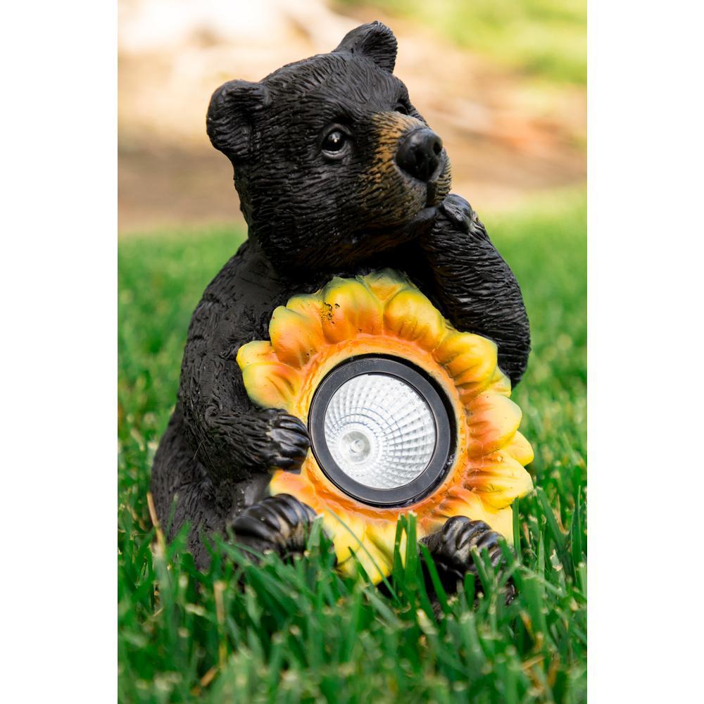 Solar Bear with Sunflower Statuary
