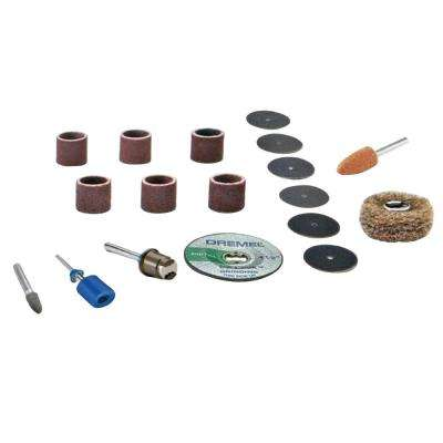 EZ Lock and Drum Sanding/Grinding Rotary Tool Accessory Kit (18-Piece)
