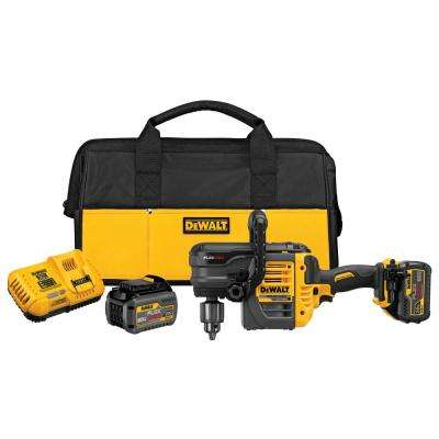 FLEXVOLT 60-Volt MAX Lithium-Ion Cordless Brushless 1/2 in. Stud and Joist Drill w/ (2) Batteries 2Ah, Charger and Bag