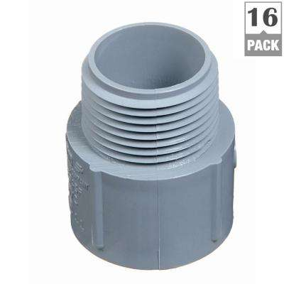 1-1/2 in. PVC Male Terminal Adapter (Case of 16)
