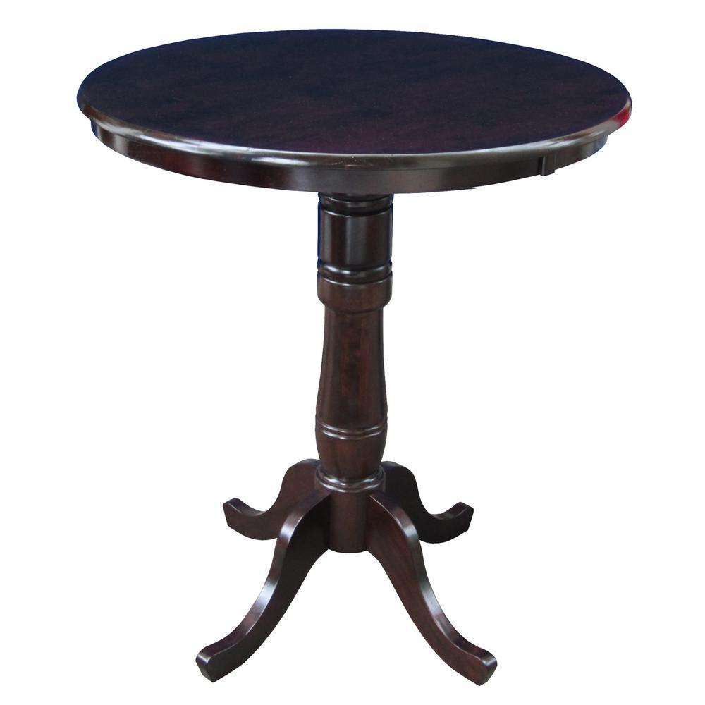 International Concepts Rich Mocha Skirted Pub/Bar Table, ...