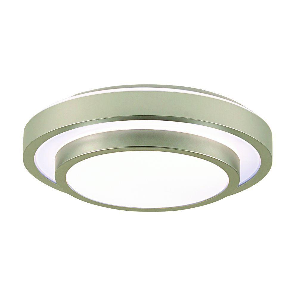 Eurofase Noire Collection 1-Light Flush Mount Silver Light-DISCONTINUED