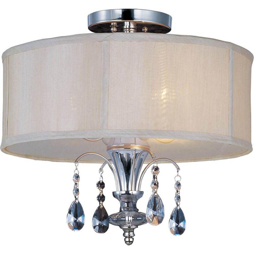 Montgomery 3-Light Polished Nickel Semi-Flush Mount Light
