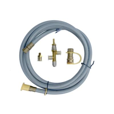Conversion Kit for Modeno Propane Fire Pit/Table to Natural Gas(50,000BTU) with 10 ft. Hose