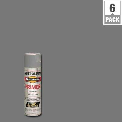 15 oz. Gray Flat Primer Spray (6-Pack)